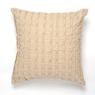 Knot Cotton Pillow Cover Color: Beige