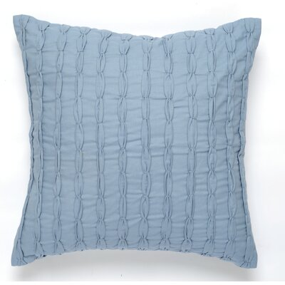 Textured Surface Cotton Pillow Cover Color: Blue / Gray