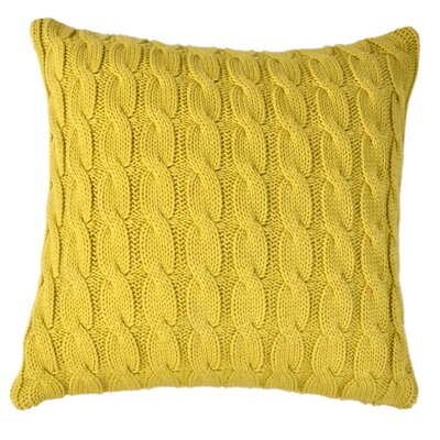 Big Cable Pillow Cover Color: Curry Color