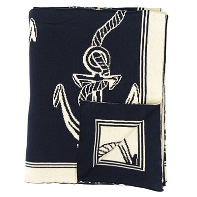 Rope and Anchor 100% Combed Cotton Throw