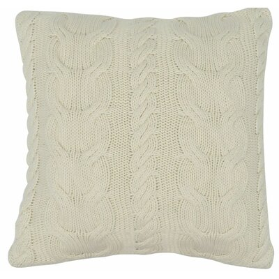 Chunky Braid 100% Cotton Throw Pillow Color: Natural