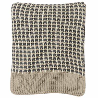 Alysa 100% Cotton Throw Color: Dark Gray/Natural/Stone