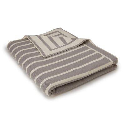 Beach Stripes Cotton Throw Color: Gray/Natural