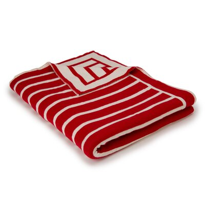 Beach Stripes Cotton Throw Color: Red/Natural