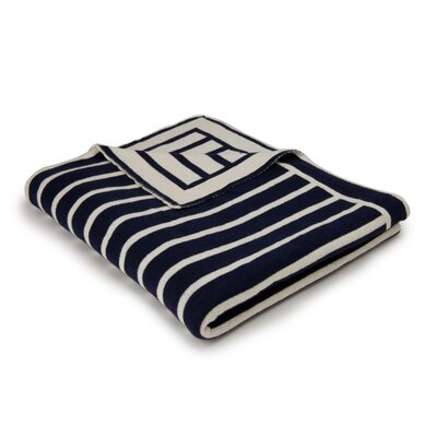 Beach Stripes Cotton Throw Color: Navy/Natural