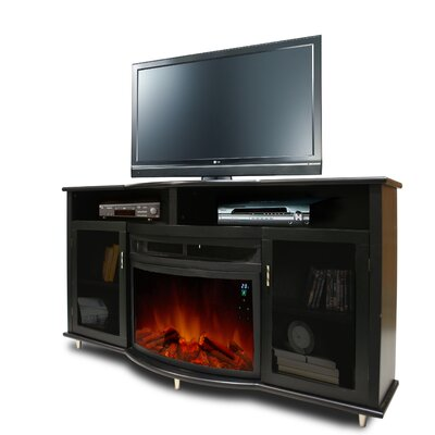 active flame mandalay 66 tv stand with electric fireplace ef 644