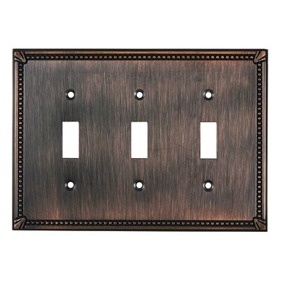 Triple Toggle Switch Plate Finish: Brushed Oil Rubbed Bronze