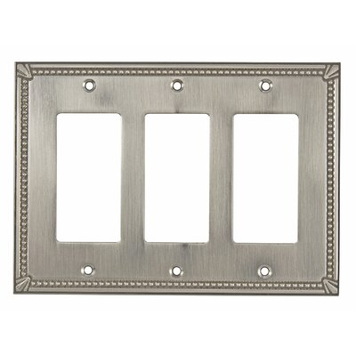 Decora Triple Switch Plate Finish: Brushed Nickel