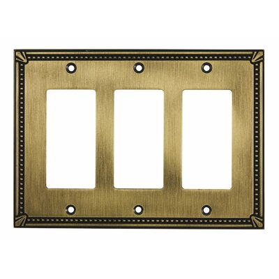 Decora Triple Switch Plate Finish: Antique English