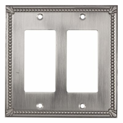 Decora Double Switch Plate Finish: Brushed Nickel