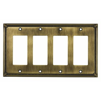 Decora Four Switch Plate Finish: Antique English