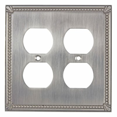 Quadruple Receptacle Switch Plate Finish: Brushed Nickel