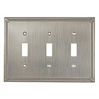 Triple Toggle Switch Plate Finish: Brushed Nickel