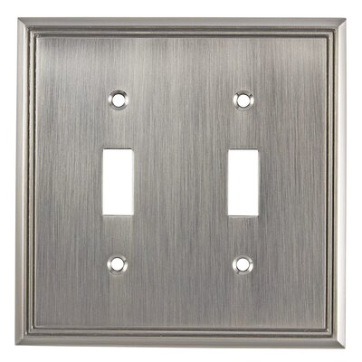 Double Toggle Switch Plate Finish: Brushed Nickel