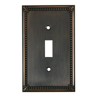 Single Toggle Switch Plate Finish: Brushed Oil Rubbed Bronze