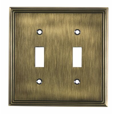 Double Toggle Switch Plate Finish: Antique English