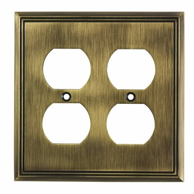 Quadruple Receptacle Switch Plate Finish: Antique English