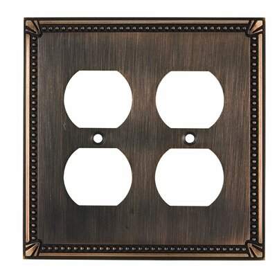 Quadruple Receptacle Switch Plate Finish: Brushed Oil Rubbed Bronze