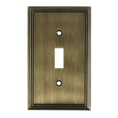 Single Toggle Switch Plate Finish: Antique English