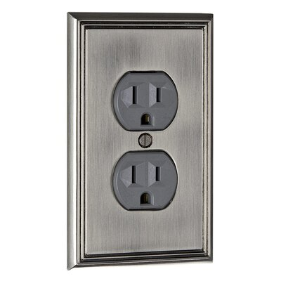 Double Receptacle Switch Plate Finish: Brushed Nickel