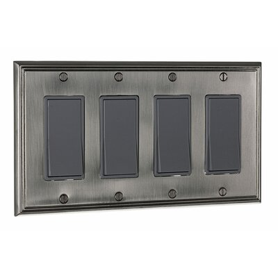 Decora Four Switch Plate Finish: Brushed Nickel