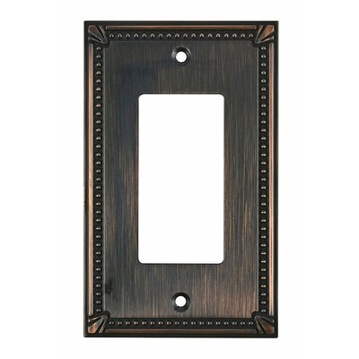 Decora Single Switch Plate Finish: Brushed Oil Rubbed Bronze