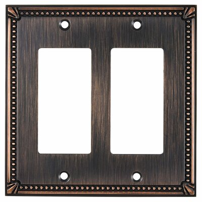 Decora Double Switch Plate Finish: Brushed Oil Rubbed Bronze