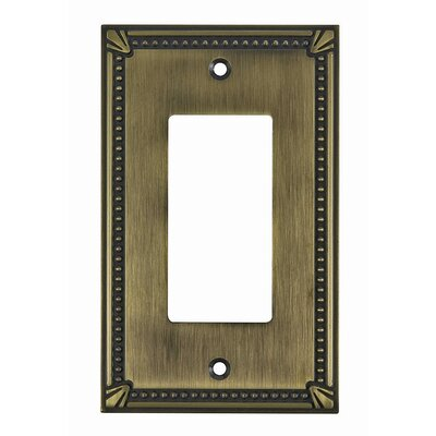 Decora Single Switch Plate Finish: Antique English