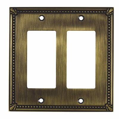 Decora Double Switch Plate Finish: Antique English