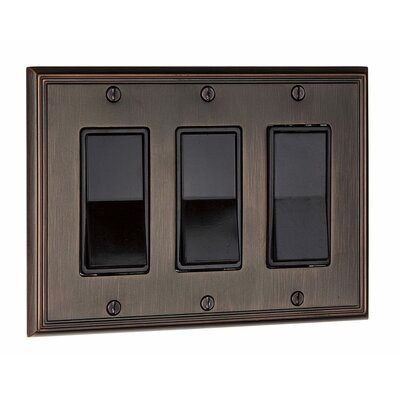 Decora Triple Switch Plate Finish: Brushed Oil Rubbed Bronze