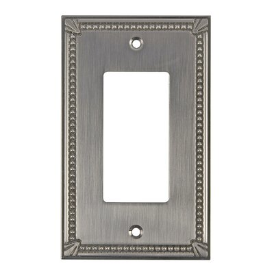 Decora Single Switch Plate Finish: Brushed Nickel