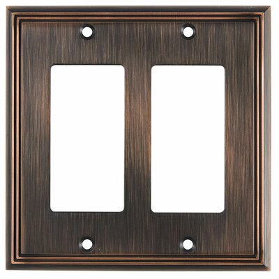 Decora Double Switch Plate Finish: Brushed Oil-Rubbed Bronze