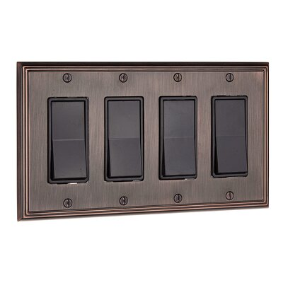 Decora Four Switch Plate Finish: Brushed Oil Rubbed Bronze