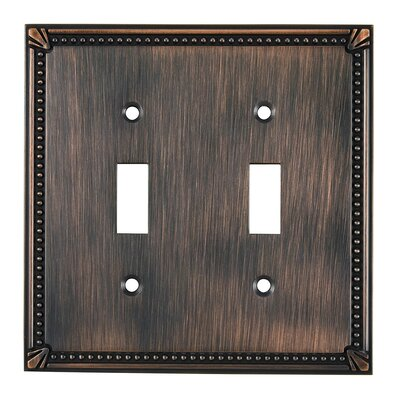 Double Toggle Switch Plate Finish: Brushed Oil Rubbed Bronze