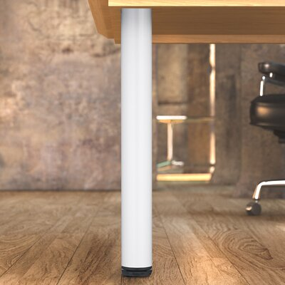 Adjustable Table Leg Finish: White