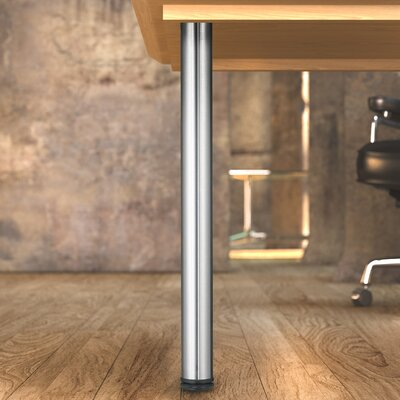 Adjustable Table Leg Finish: Stainless Steel