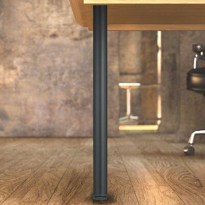 Round Adjustable Table Leg Finish: Matte Black