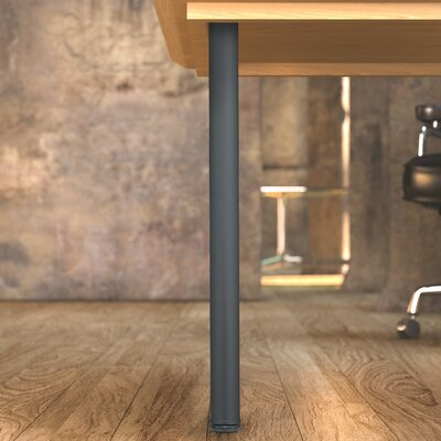 Round Adjustable Table Leg (Set of 4) Finish: Textured Black