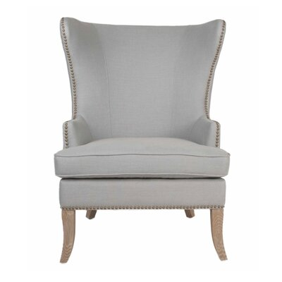 Grant Wingback Chair Upholstery: Light Gray