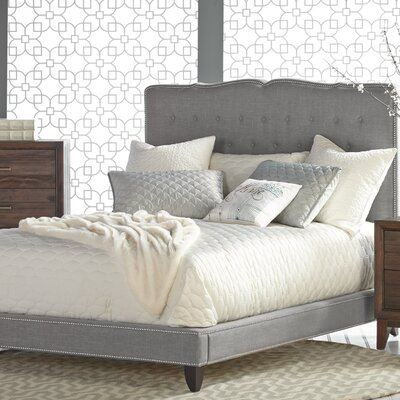 Markes Upholstered Platform Bed Size: King, Color: Espresso