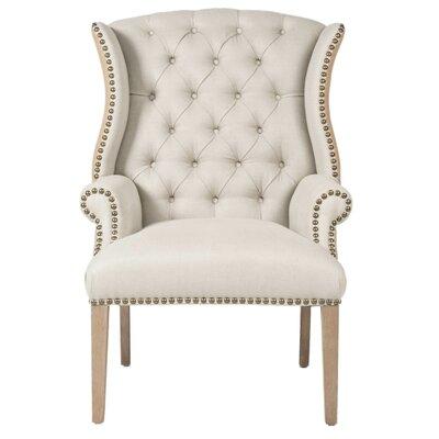 Rouet Tufted Wing back Chair
