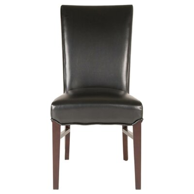 London Parsons Chair (Set of 2) Upholstery: Black