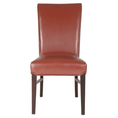 London Parsons Chair (Set of 2) Upholstery: Cranberry