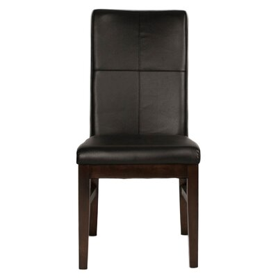 Aida Upholstered Dining Chair (Set of 2) Upholstery Color: Black