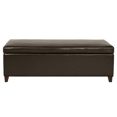 Aida Ottoman Upholstery: Brown