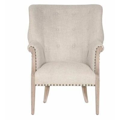 Lawrence Wing back Chair Upholstery: Stone Wash