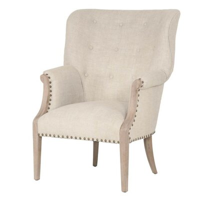Angecourt Wing back Chair Upholstery: Stone Wash