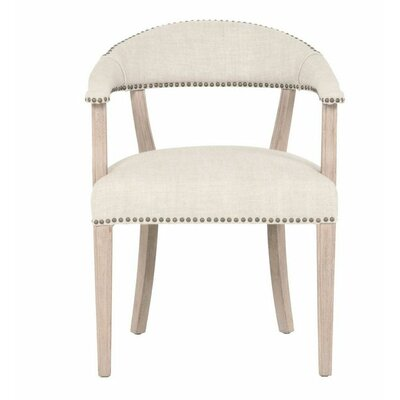 Ansel Arm Chair Upholstery: Bisque French Linen