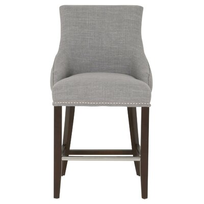 Carnaff 26 Bar Stool Finish: Espresso, Upholstery: Gray