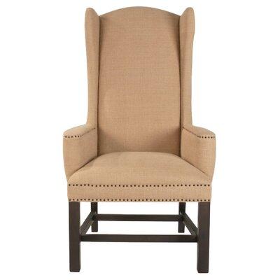 Bennett Wing back Chair Upholstery: Espresso